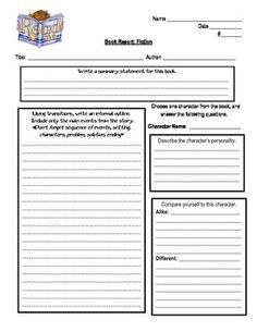 Cereal Box Book Report  Book Report Templates Cereal And Books