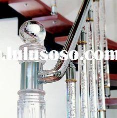 indoor staircase & baluster.acrylic post.acrylic handrail.crystal baluster