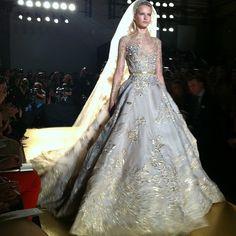 wedding gown by ellie saab