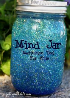 Mind Jar Meditation - I have been trying to come up with meditation ideas to help my daughter deal with nervous energy.  This is a great idea for children and adults too.