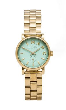 Marc by Marc Jacobs Baker Watch in Rose Gold & River | REVOLVE