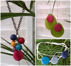 A jewellery set made using tagua beads Beaded Jewelry, Jewellery, Wind Chimes, Washer Necklace, Bracelet, Beads, Outdoor Decor, Earrings, Blog