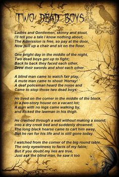 Two Dead Boys Poem by Tyler Rager