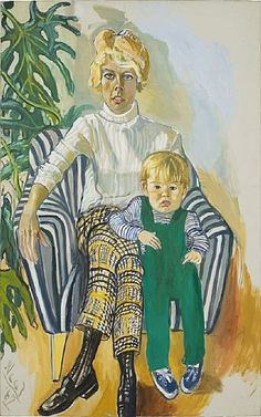 Alice Neel, Mrs. Paul Gardner and Sam