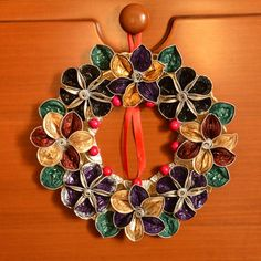 wreath made with Nespresso capsule