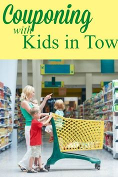 Think you can't use coupons if you have to shop with kids?  Here are some great tips that will help you do just that.
