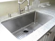 Image result for how to install undermount sink to granite