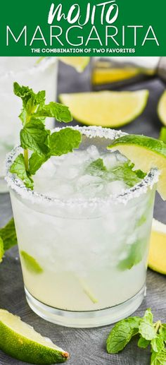 mint drink This Mojito Margarita is the perfect combination of two of your favorite cocktails! The perfect balance of mint, lime and tequila. Mint Margarita, Best Margarita Recipe, Margarita Recipes, Tequila Drinks, Cocktail Drinks, Tequilla Cocktails, Wine Slushies, Gastronomia, Drink Recipes