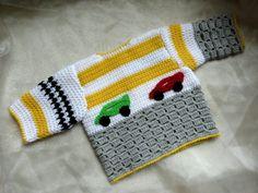 Engels Nederlands Haakpatroon Baby Vest door ElodyKnitsforKids
