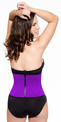 LMB Waist Trainer Corset - Workout Style 1024 - Latex Waist Cincher at Amazon Women's Clothing store:
