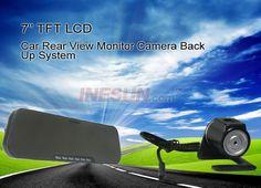7 inch TFT LCD 4 Night Vision Car Rear View Monitor IR Camera Back Up System