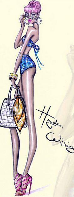 Fashion Illustration by Hayden Williams| Be Inspirational ❥|Mz. Manerz: Being well dressed is a beautiful form of confidence, happiness & politeness