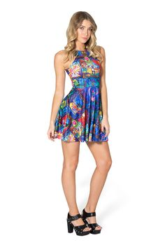 Tale As Old As Time Reversible Skater Dress by Black Milk Clothing $95AUD