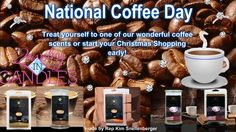 """#IloveJIC #jewelryincandlesbysnelly #JICScents #IamJIC #nationalcoffeeday #Nationalcoffeeday2014 #jewelry #candles   ✫¸.•°*""""""""*°•.✫National Coffee Day✫¸.•°*""""""""*°•.✫  Treat yourself on National Coffee Day to one of our wonderful coffee scents Spiced coffee, Mocha or Hazelnut coffee.  Why not start your Christmas shopping early online? No waiting in lines, no need to leave your house, no need to deal with crowds or bad weather :)   https://www.jewelryincandles.com/store/snellys-candles"""