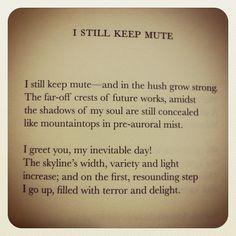 nabokov poetry: i still keep mute