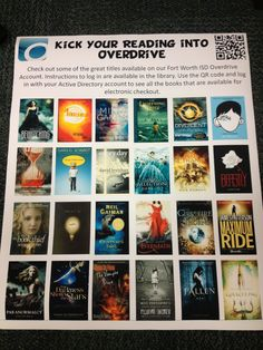 Overdrive promotion poster Library Lessons, Library Ideas, Library Signage, Active Directory, Library Displays, Libraries, Good Books, Literacy