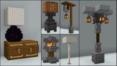 Minecraft: Lighting Build Hacks and Ideas Minecraft Hack, Minecraft Lampe, Easy Minecraft Houses, Minecraft Medieval, Minecraft Room, Amazing Minecraft, Minecraft Tutorial, Minecraft Blueprints, Minecraft Crafts