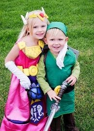 Link and Zelda photo- could repurpose scrubs?