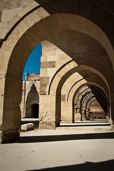 Caravansaray in Sultanhani, central Turkey. A magnificent structure recalling the travellers of the Silk Road as they plied their trade. Such a sense of safety within these sheltering walls. A great stopping when travelling between Konya and Cappadocia.