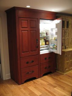KITCHEN - Timeless Kitchen Cabinetry: Hide that refrigerator!