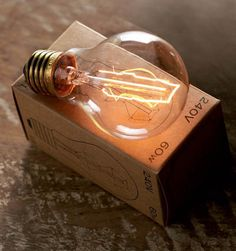 completely smitten with vintage style filament bulbs...