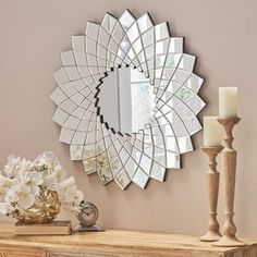 Christopher Knight Home 304282 Tzipora Glam Sunburst Wall Mirror, Clear Unique Mirrors, Fancy Mirrors, Creative Walls, Home Decor Trends, Newborn Photography, Wall Mirror, Mirror Panels, Wall Decor, Christopher Knight