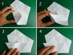 How to fold a 5 pointed origami star with step by step photos. An easy way to make beautiful Christmas star decorations. Origami Envelope, Origami Folding, Origami Paper, Origami Simple, Useful Origami, Origami Christmas Ornament, Star Ornament, Origami Ornaments, Homemade Christmas Decorations