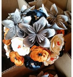 Paper Flower Bridal Bouquet Paper Flower Wedding by TheScrapShed