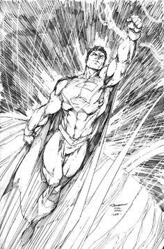 dibujos para colorear de superman volando