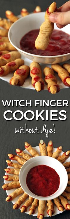 Witch Finger Cookies (without food coloring!) - Texanerin Baking