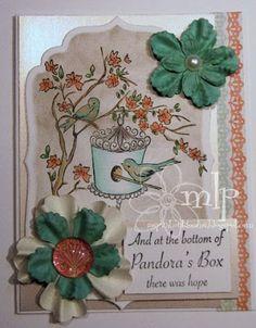 Prickley Pear Rubber Stamps:  KK0032 Birds, Branches & Birdhouse, DD0142 Pandora's Box