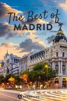 Apr 2017 - Looking for things to do while you're in Madrid, Spain? Here is our city break guide on how to make the most with 48 hours in Madrid. Madrid City, Madrid Barcelona, Cool Places To Visit, Places To Travel, Travel Destinations, Holiday Destinations, Spain Travel Guide, Madrid Travel, Voyage Europe
