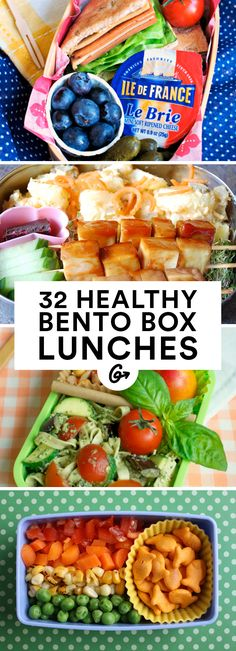 32 Healthy and Photo-Worthy Bento Box Lunch Ideas #healthy #bentobox #lunch http://greatist.com/health/healthy-bento-box-ideas