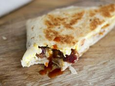 Copycat Taco Bell Bacon A.M. Crunchwrap - From Away