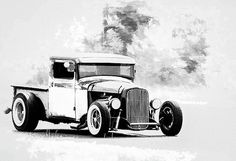 Hot Rod Trucks, Art For Sale, Hot Rods, Antique Cars, Ford, Billie Eilish, Photograph, Vintage Cars, Photography