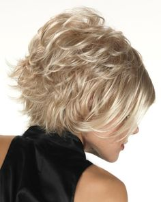 View Of All Images For Cali by Tony of Beverly Layered Hair With Bangs, Bobs For Thin Hair, Short Hair Cuts, Layered Bob Hairstyles, Straight Hairstyles, Blonde Bob Haircut, Round Face Haircuts, Hair Flip, Hair Type