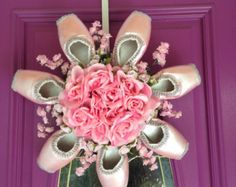 Pointe Shoe Christmas Wreath Holiday Ballet by PointeBlankDesigns