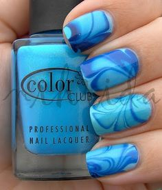 another lovely marble nail polish! blue, this time~