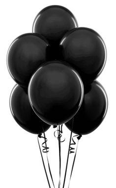 Blk balloons. Hallowen party decor.