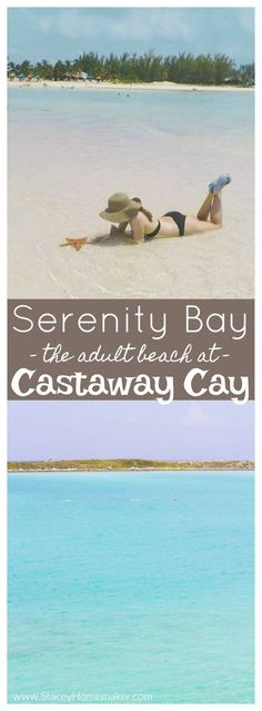 We visited Castaway Cay on our Disney cruise honeymoon, it was my favorite port! We LOVED the adult-only beach, Serenity Bay. It's so GORGEOUS and peaceful! Tropical drinks, relaxing on the sandbar, stunning aqua water, and finding starfish = paradise!