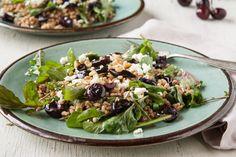 Roasted Cherry, Farro, & Arugula Salad