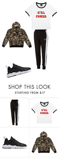 """Day1  lily"" by tinkkerseavey ❤ liked on Polyvore featuring Puma and NIKE"