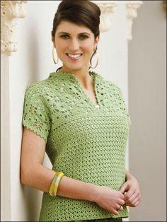 Crochetemoda: Tops and Blouses Crochet