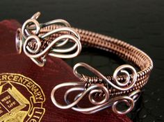 Antiqued Copper Wire Weave Bracelet Limited Design  by BonzerBeads, $34.00