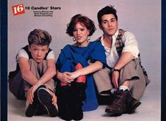 Anthony Michael Hall, Molly Ringwald and Michael Schoeffling