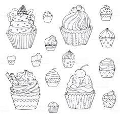 落書きケーキのセットです。手描きのベクトルの要素。白で隔離 ロイヤリティフリー落書きケーキのセットです手描きのベクトルの要素白で隔離 - ケーキのベクターアート素材や画像を多数ご用意