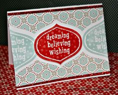 """CTMH """"Home for the Holidays"""" card using snowhaven paper pack"""