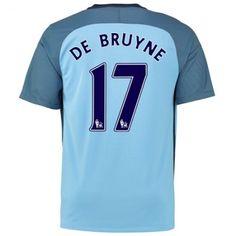 Manchester City 16-17 Kevin #De Bruyne 17  Hjemmebanesæt Kort ærmer,208,58KR,shirtshopservice@gmail.com