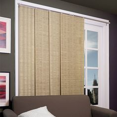 Shop for Chicology Adjustable Sliding Panel, Beach - Natural Woven, Privacy, X - Provence Maple. Get free delivery On EVERYTHING* Overstock - Your Online Home Decor Outlet Store! Privacy Panels, Window Panels, Window Coverings, Window Treatments, House Blinds, Blinds For Windows, Window Blinds, Hidden Spaces, Natural Weave