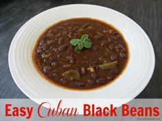 Easy Cuban Black Beans <a href=http://chasethestar.net/2013/10/easy-cuban-style-black-beans.html>Not supported by mobile. Click to view original post</a> #blackbeans #cuban #recipe